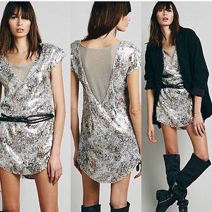 Free People metallic dress