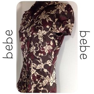 Bebe City Brown Blouse - Size Small