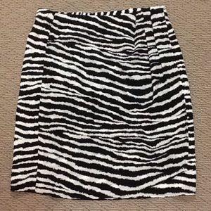 Allison Taylor Dresses & Skirts - Allison Taylor- Silk Animal Print Skirt