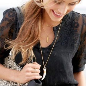 Stella & Dot Jewelry - Jewelry | Sahara white pendant necklace
