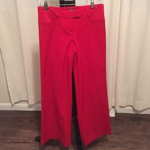 Express, wide leg red dress pant - 0R