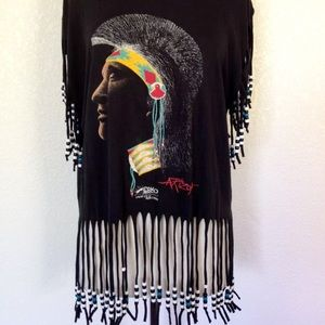 Fringe Beaded Indian Shirt