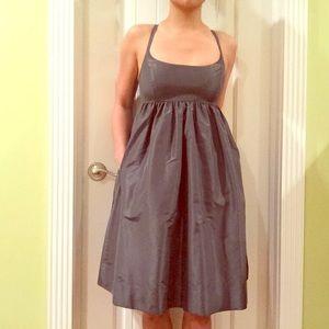 Grey Silk J.Crew Dress