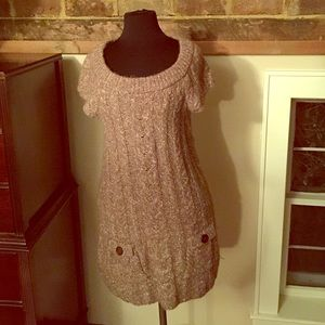 Dresses & Skirts - Tweed cable shirt sleeve sweater/dress