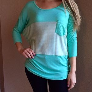 Tops - Oversized Mint Dolman Top