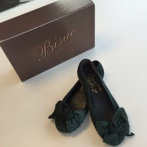 Bisue Shoes - Cute Emerald Green Flats