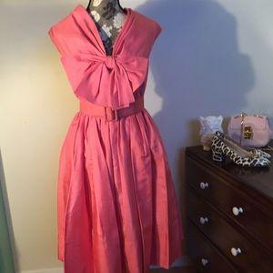 Larry Aldrich Vintage 50's duponi silk bow dress