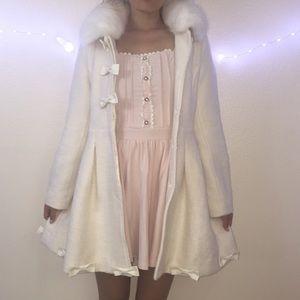 d58cf5410 Liz lisa Jackets & Coats - Lizlisa white dolly faux fur coat plus shorts
