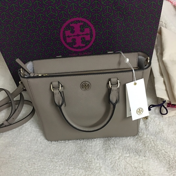 dcf086c8757 Tory Burch Bags | Sale Mini Robinson French Grey Purse | Poshmark