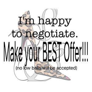 Make your BEST offer