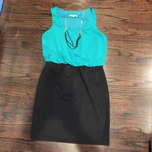 Annalee + Hope Dresses & Skirts - Green and black dress