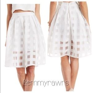 The KELLY Organza Grid Skirt