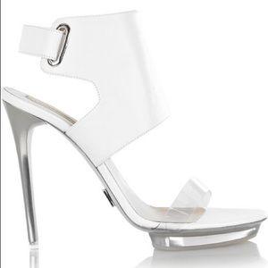 Michael Kors Leather and Perspex Sandal Heels