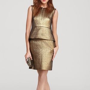 Diane Von Furstenberg Gold Delian Dress