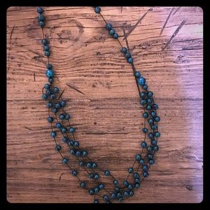 Blue Beaded Necklace from Brazil