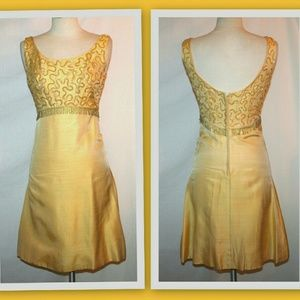 1960s sequin bodice vintage cocktail dress