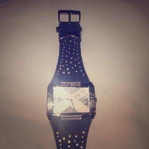 Accessories - Denim studded Extē watch