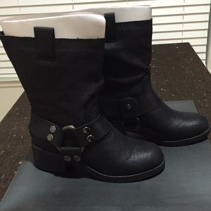 JustFab Shoes - Black Motorcycle Boots Size 6