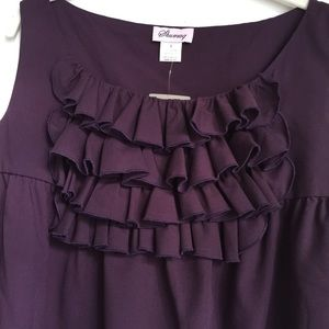Anthropologie Front Ruffle Top