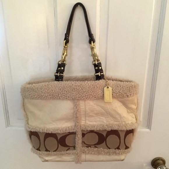 83 off coach handbags �hp� coach leather bag w
