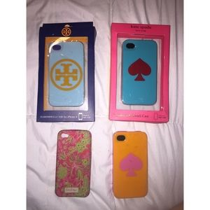 kate spade Accessories - NWT Kate Spade/Tory Burch iPhone 4 Case Bundle