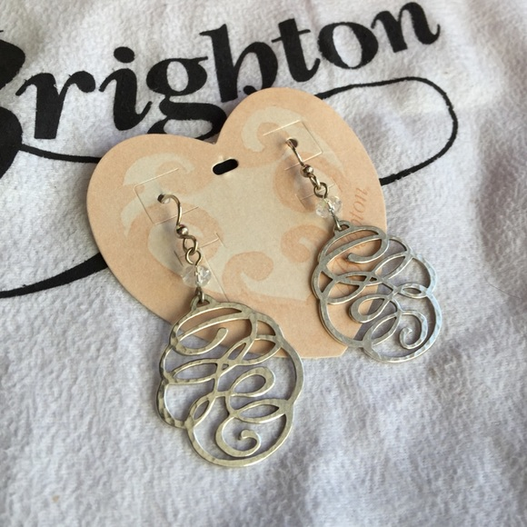 Brighton Jewelry Nwt Brighton Skribbel Silver Swarovski Earrings Poshmark