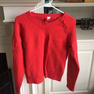 H&M coral orange sweater