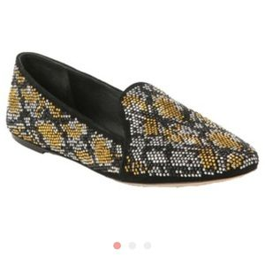 BRIAN ATWOOD Claudelle Crystal Stud Smoking Flats