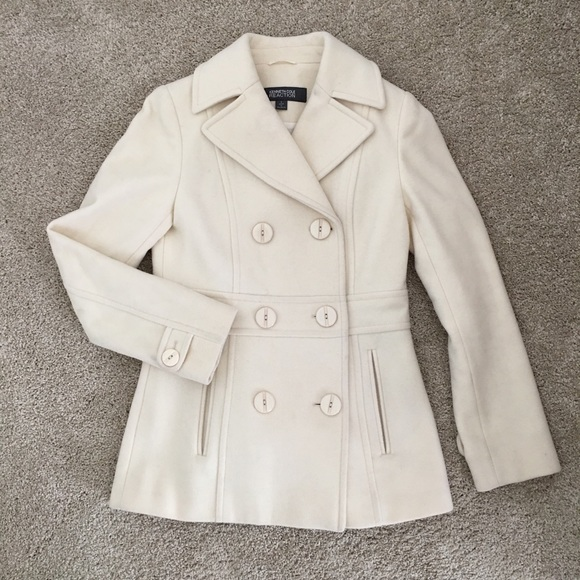 f4194b56036 Kenneth Cole Reaction Jackets   Blazers - Kenneth Cole Reaction Ivory Wool  Pea Coat