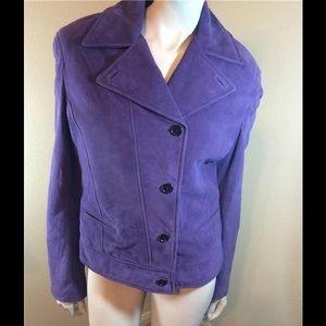 Malo Jackets & Blazers - Malo Purple Suede Jacket