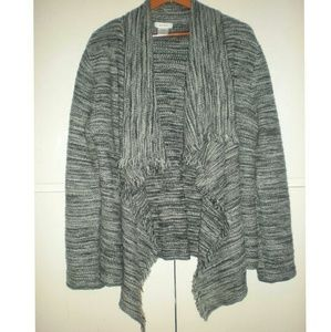 Kate Hill Sweaters - KATE HILL  KNITTED HI LO CARDIGAN - SIZE XL
