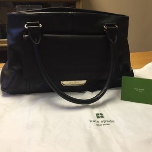 kate spade Handbags - Black leather Kate Spade leather w/ dust cover