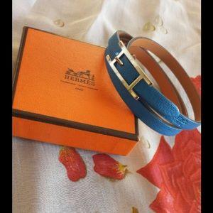 hermes leather wrap bracelet