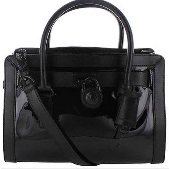 34% off Michael Kors Handbags - MK east west Hamilton all black ...