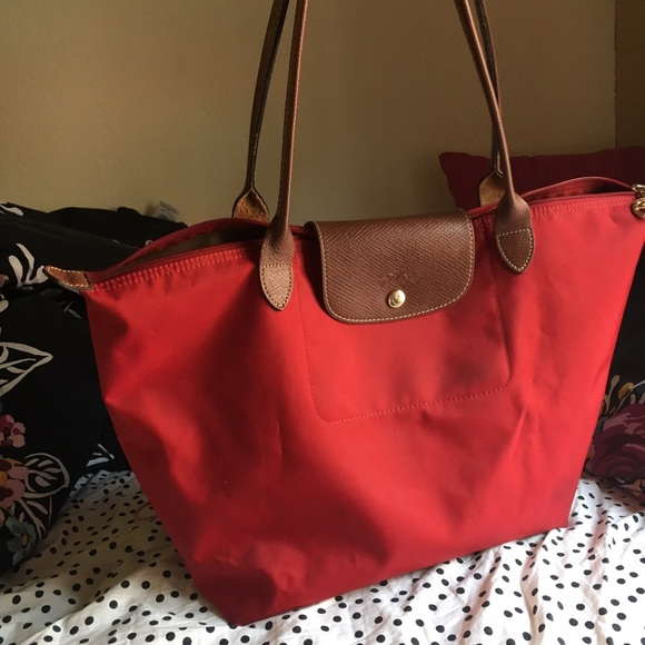 66% off Longchamp Handbags - Deep Red Longchamp Le Pliage Large ...