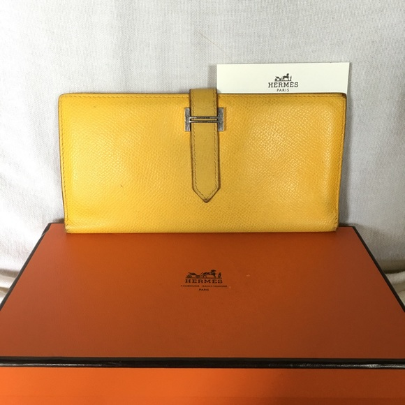 hermes kelly wallet yellow - photo #17