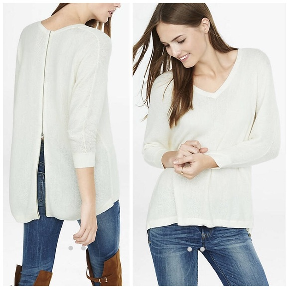 Hi Lo Zip Back Sweater