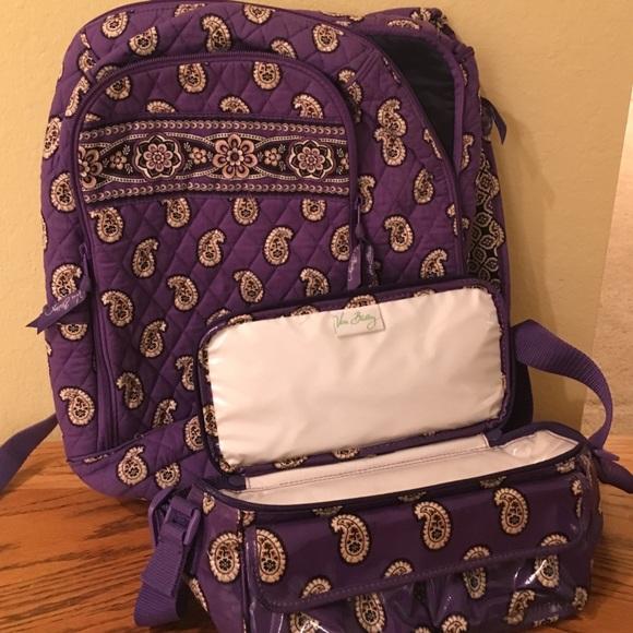 Vera Bradley Purple BackPack LunchBox