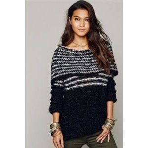 53% off Free People Sweaters - Free People Engineered Stripe Cowl ...