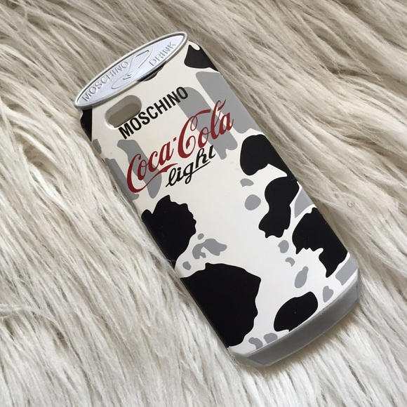 best loved 3b2d1 21b64 Moschino Coca Cola Cow Print iPhone 6 Case