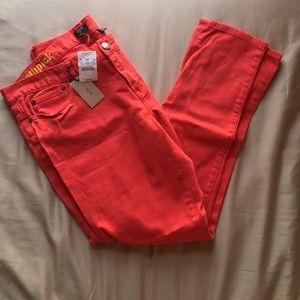 J. Crew Salmon Pink Jeans!