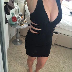 Bebe Black Side Cut Out Dress