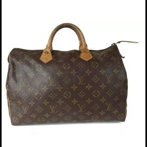firm! Auth Louis Vuitton Speedy 35 handbag