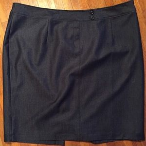 Navy Skirt with Sheen