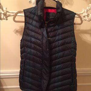 Talbots Jackets & Blazers - Green & Navy Talbots Puffer Vest