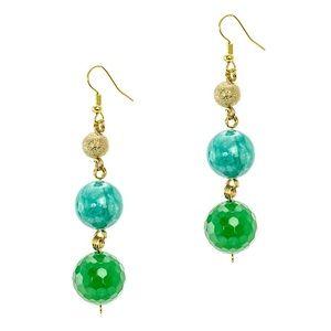 Genuine Jade Stone earrings Jardin Boutique
