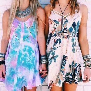 LF floral slip dress