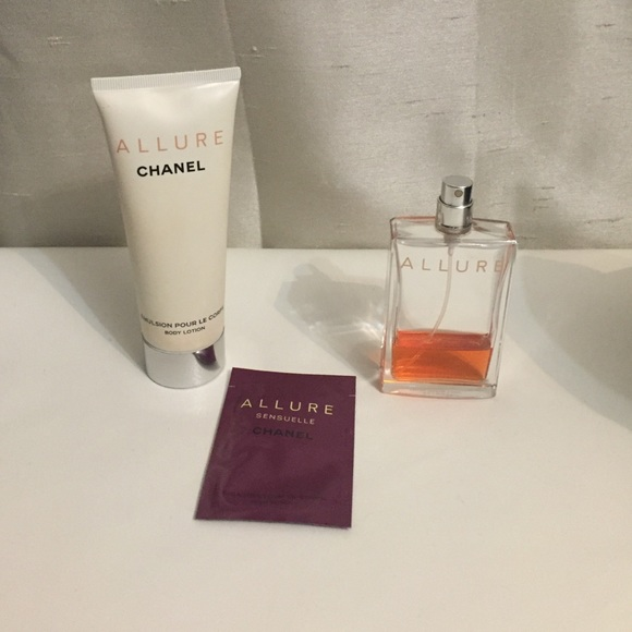 0a3ee7ab74c 75% off CHANEL Other - Chanel allure perfume   lotion from Christina  39  NIB  Authentic CHANEL No.5 Trio Gift Set Perfume Lotion Bath Gel Limited