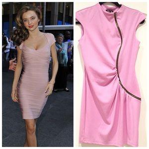 River island pink zipper dress