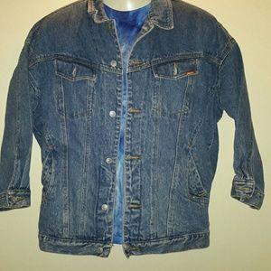 VINTAGE Jordache 3/4 Sleeve Denim Jacket SZ M